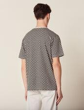 T-Shirt Aus Baumwolle Mit Schachmuster : Sélection Last Chance farbe Schwarz