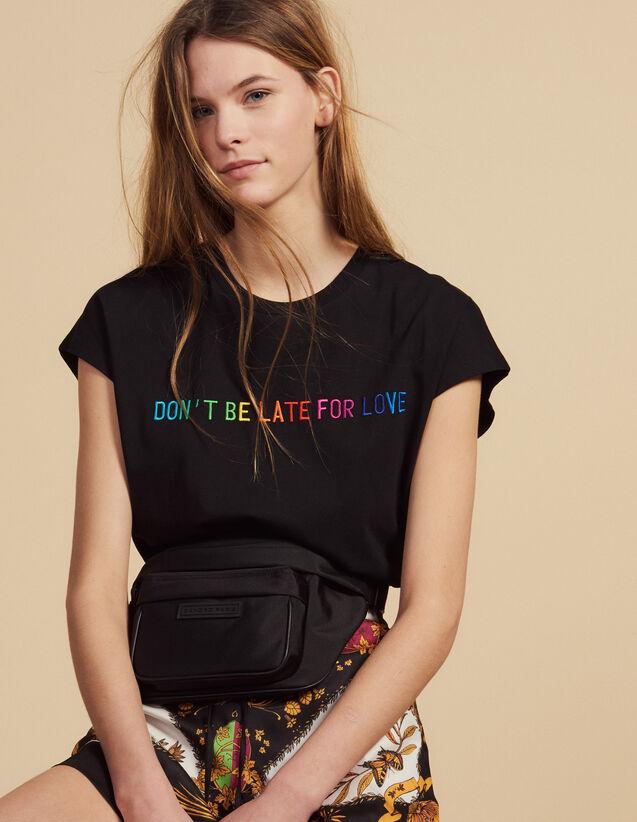 Baumwoll-T-Shirt Mit Schriftzug : T-shirts farbe Schwarz