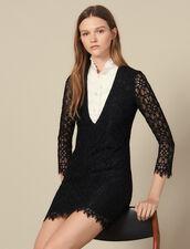 Kurzes Kleid Mit Trompe-L Oeil-Effekt : LastChance-ES-F50 farbe Schwarz