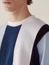 Sweatshirt Mit Breiten Kontraststreifen : Sélection Last Chance farbe Blau