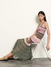 Gestreiftes Strickkleid : Kleider farbe Rose / Kaki