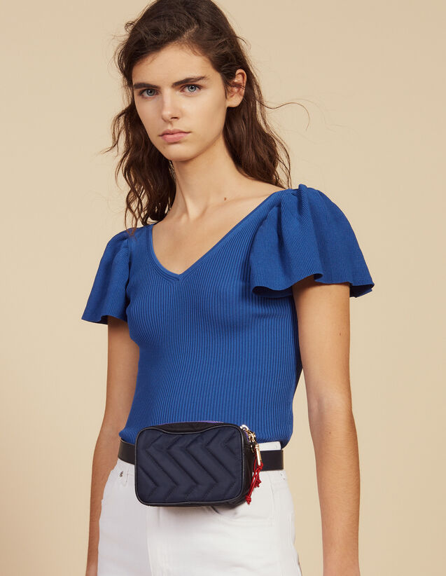 Schmal Geschnittenes Stricktop : Tops & Hemden farbe Blau