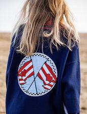 Cardigan Mit Stickerei Am Rücken : null farbe Marine