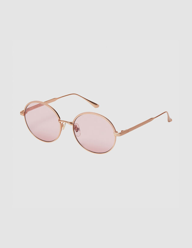 Runde Brille : Sonnenbrille farbe Doré/Noir