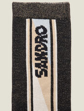 Lurex-Strümpfe : Socken farbe Schwarz