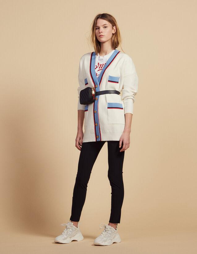 Langer Cardiganmit Langen Ärmeln : Pullover & Cardigans farbe Ecru