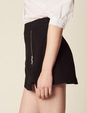 Shorts Mit Trompe-L'Œil-Effekt : null farbe Schwarz