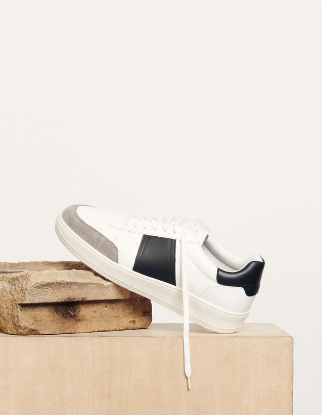 Sneaker aus Leder : Schuhe farbe Weiß
