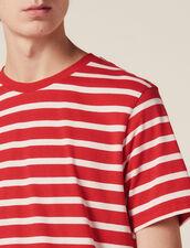 T-Shirt Mit Kontraststreifen : Sélection Last Chance farbe Rot