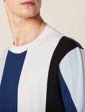 T-Shirt Mit Breiten Streifen : Sélection Last Chance farbe Blau