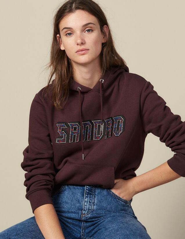Sweatshirt Mit Sandro-Schriftzug : Sweatshirts farbe Grau