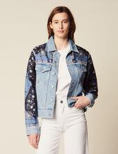 Jeansjacke Mit Printeinsätzen : Blousons & Jacken farbe Blue Vintage - Denim