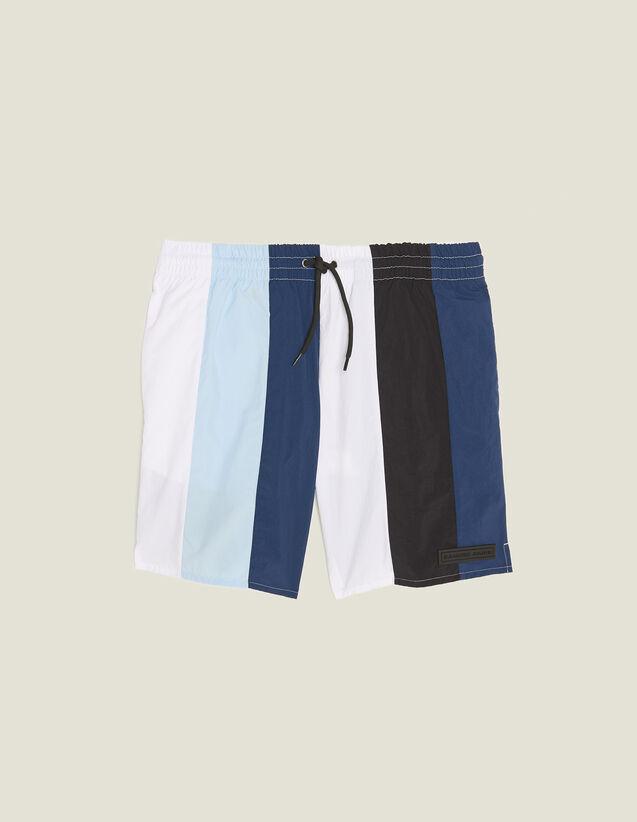 Badehose Mit Mehrfarbigen Streifen : Sélection Last Chance farbe Blau
