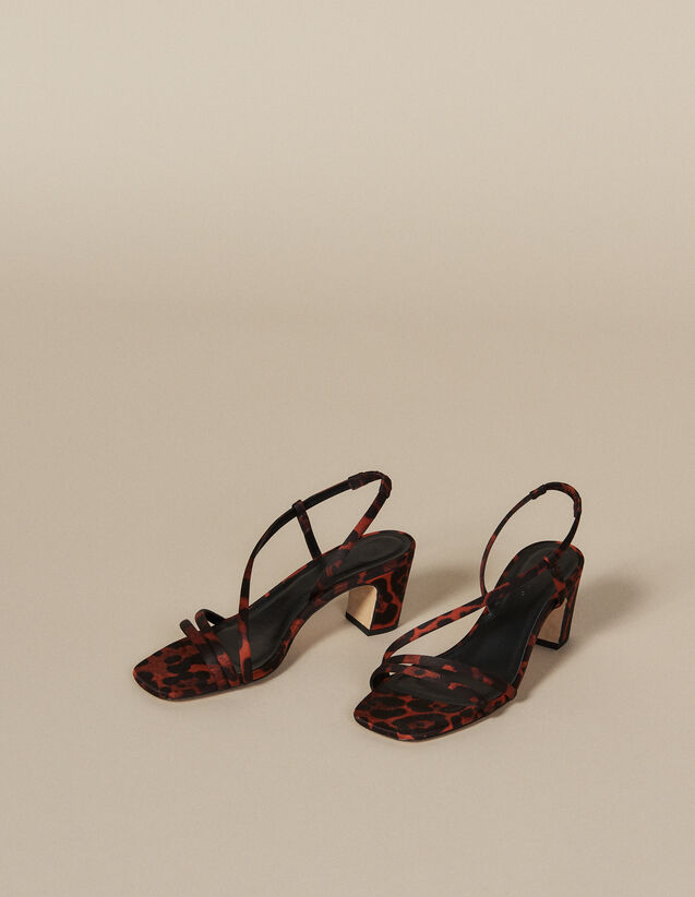 Stoffsandalen Mit Leoparden-Print : Let's go girls farbe Leopard orange