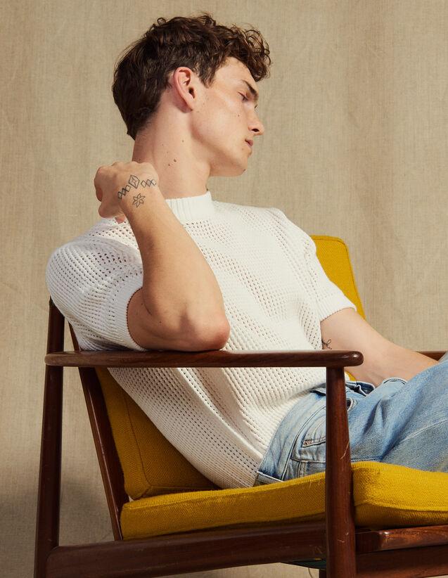 Pullover Aus Durchbrochenem Strick : Pullovers & Cardigans farbe Ecru