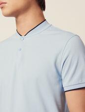 Poloshirt Mit Kragendetail : LastChance-FR-H30 farbe Sky Blue
