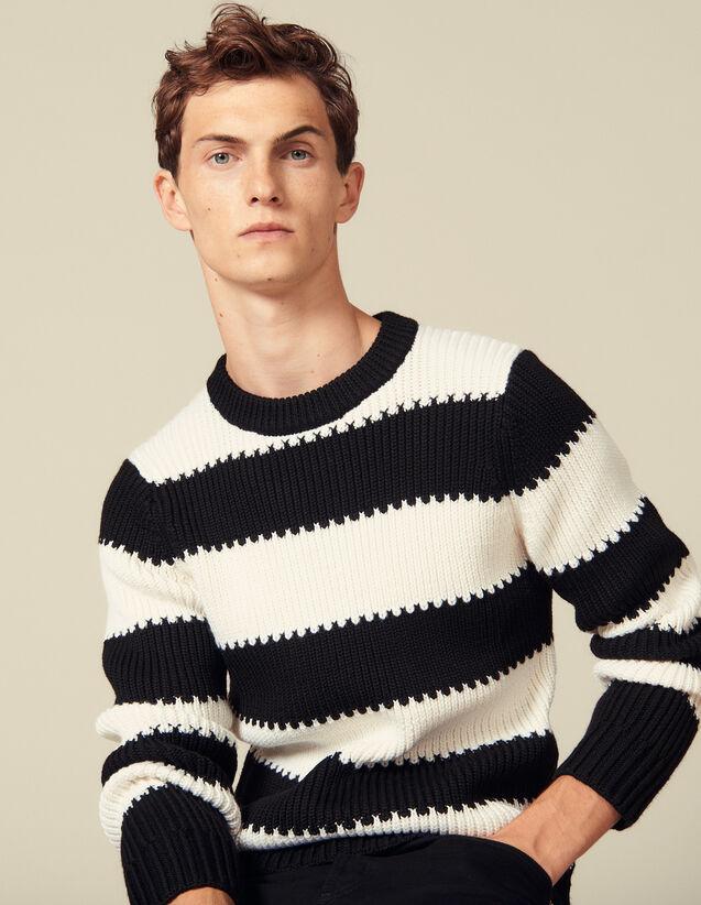Streifenpullover Aus Strick Mit Perlen : Pullovers & Cardigans farbe Ecru/Noir