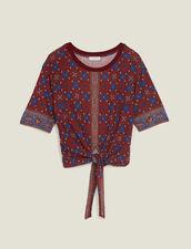 Bedrucktes T-Shirt Zum Binden : null farbe Bordeaux