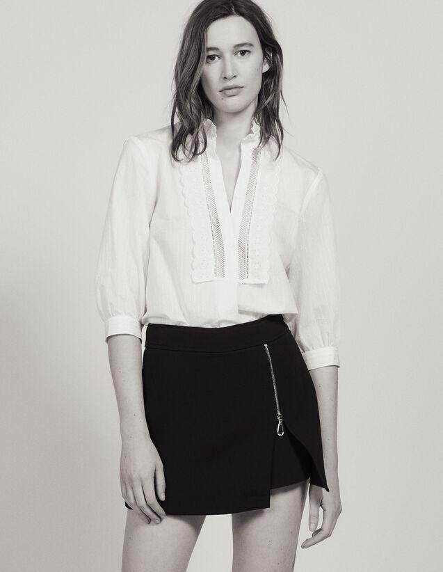 Shorts Mit Trompe-L'Œil-Effekt : Röcke & Shorts farbe Schwarz