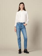 Gerade Geschnittene, Verwaschene Jeans : FBlackFriday-FR-FSelection-30 farbe Blue Vintage - Denim