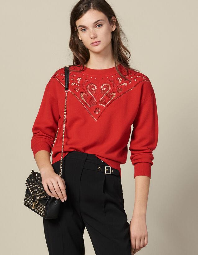 Pullover Mit Stehkragen Mit Plastron : FBlackFriday-FR-FSelection-Pulls&Cardigans farbe Rot