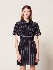 Kurzes Gestreiftes Kleid : null farbe Marine