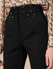 Hose mit Gürtel mit Nietenverzierung : LastChance-ES-F50 farbe Schwarz