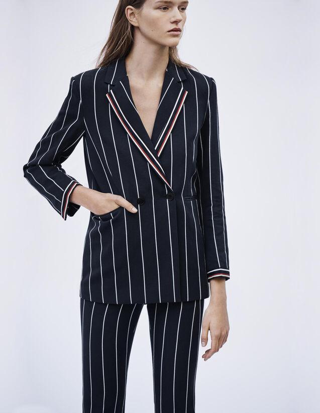 Blazer Mit Abgestimmten Streifen : Blousons & Jacken farbe Marine