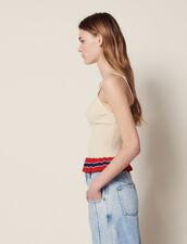 Tanktop Aus Strick Mit Rüschen : Tops & Hemden farbe Beige