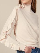 Pullover Mit Asymmetrischem Volant : Pullover & Cardigans farbe Hautfarbe