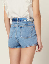Shorts Aus Jeans Mit Halstuchgürtel : Röcke & Shorts farbe Blue Vintage - Denim
