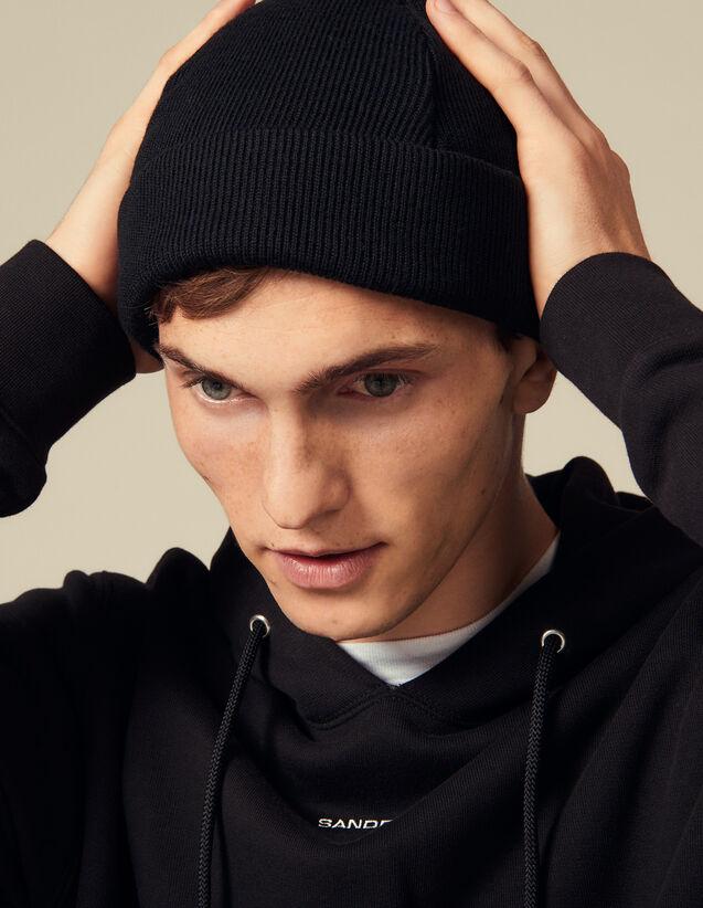 Mütze Aus Einer Wollmischung : Handschuhe & Mütze farbe Schwarz