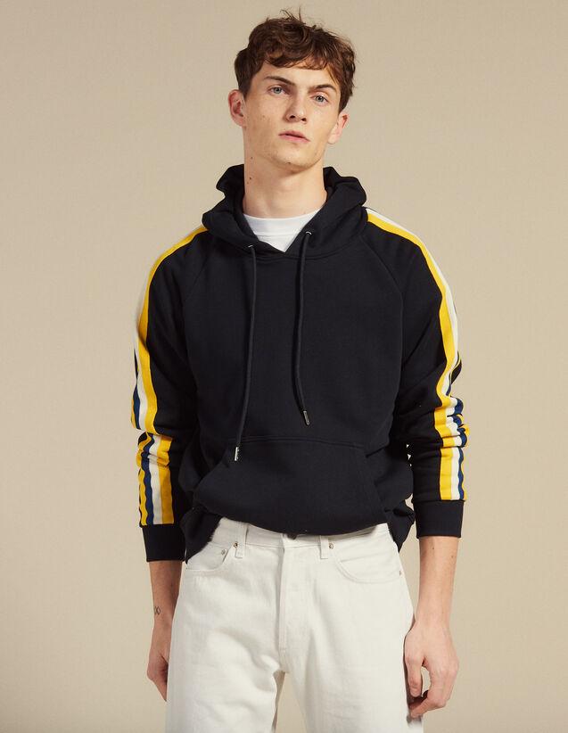 Kapuzensweatshirt Mit Streifenborten : SOLDES-UK-HSelection-Pulls&Cardigans farbe Marine