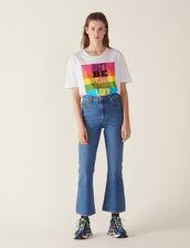 Ausgestellte Jeans : null farbe Schwarz