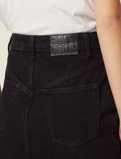 Kurzer Jeansrock : null farbe Schwarz