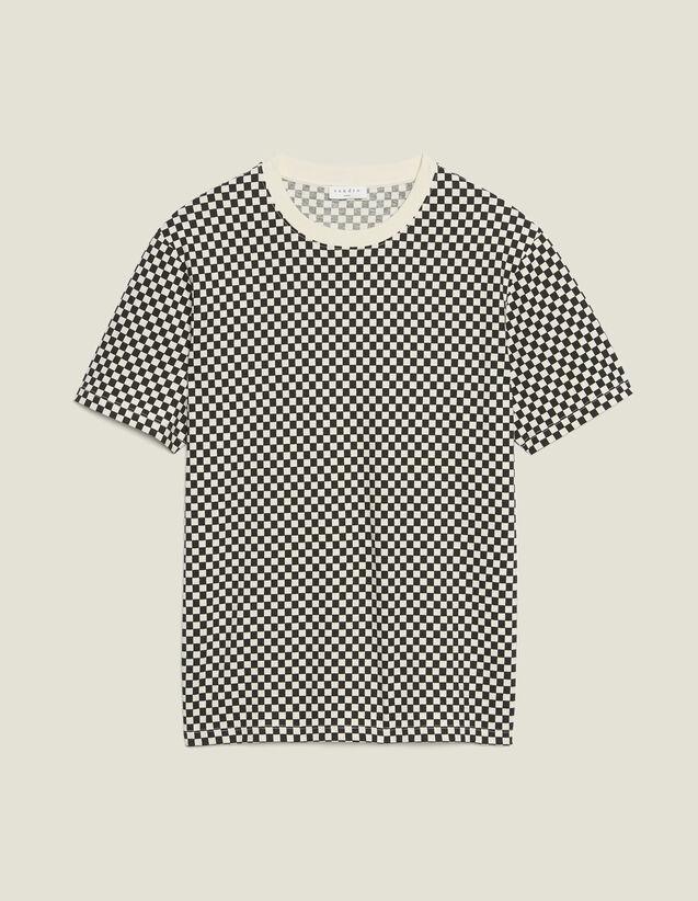 T-Shirt Aus Baumwolle Mit Schachmuster : T-Shirts & Polos farbe Schwarz