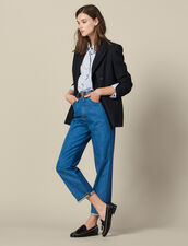 Zweifarbige Jeans Mit Mom-Schnitt : FBlackFriday-FR-FSelection-Pantalons&Jeans farbe Bleu Denim
