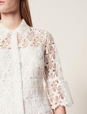 Mantelkleid Aus Gipürespitze : Kleider farbe Ecru