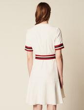 Wickelkleid Mit Rippungen : Kleider farbe Ecru