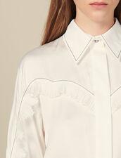 Hemdbluse Im Western-Zuschnitt : Tops & Hemden farbe Ecru