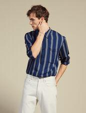 Gestreiftes Langarmhemd : Sommer Kollektion farbe Marine
