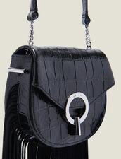 Pépita Tasche Kleines Modell Mit Fransen : Das beste der Saison farbe Schwarz
