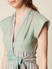 Wickelkleid Mit Streifen : null farbe Grün