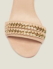 Sandalen Mit Kettenflechtdetails : Schuhe farbe Nude