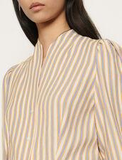 Hemd mit verspielten Streifen : Tops & Hemden farbe Rose / Jaune