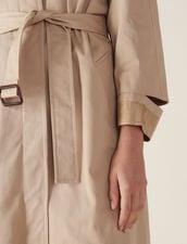 Langer Mantel Im Trenchcoat-Stil : null farbe Beige