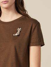 T-Shirt Mit Aufgestickten Boots : T-shirts farbe Khaki