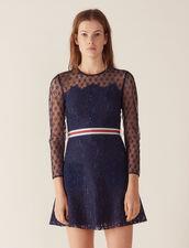 Kurzes Kleid Aus Spitze : Kleider farbe Marine
