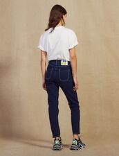 Jeans Mit Kontrastnähten : null farbe Marine