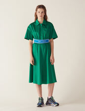 Kleid Aus Baumwollsatin : Kleider farbe Grün